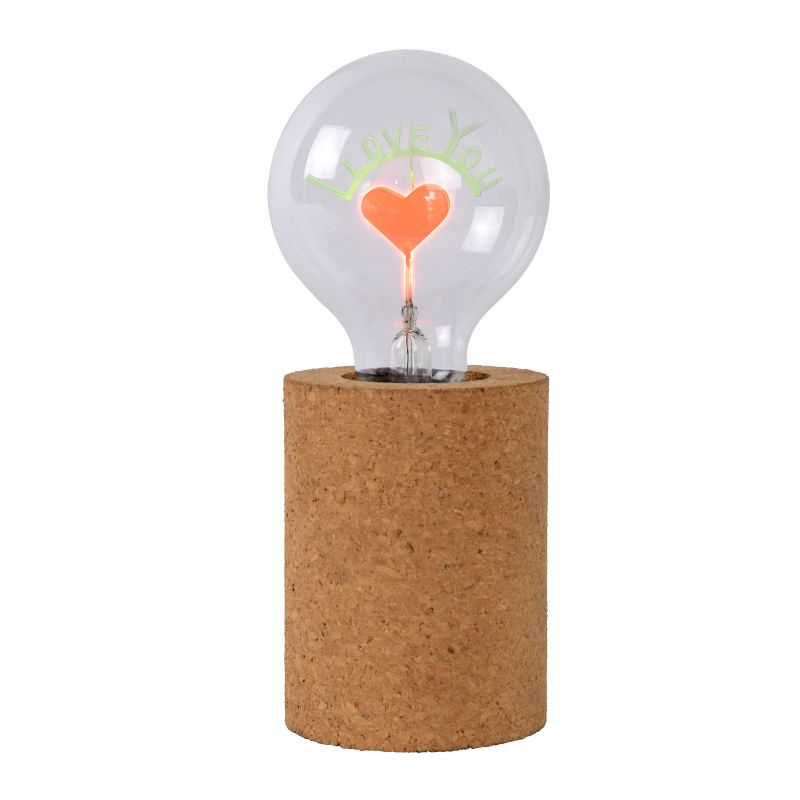 CORKY Table Lamp-I LOVE YOU- G80/E27/3W Brown