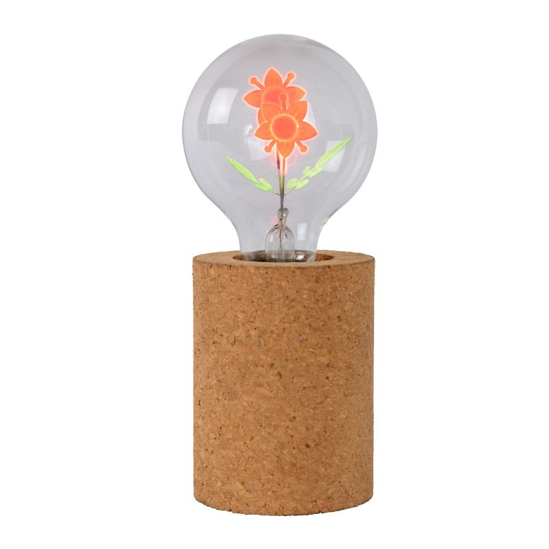 CORKY Table Lamp-Flower - G80/E27/3W Brown