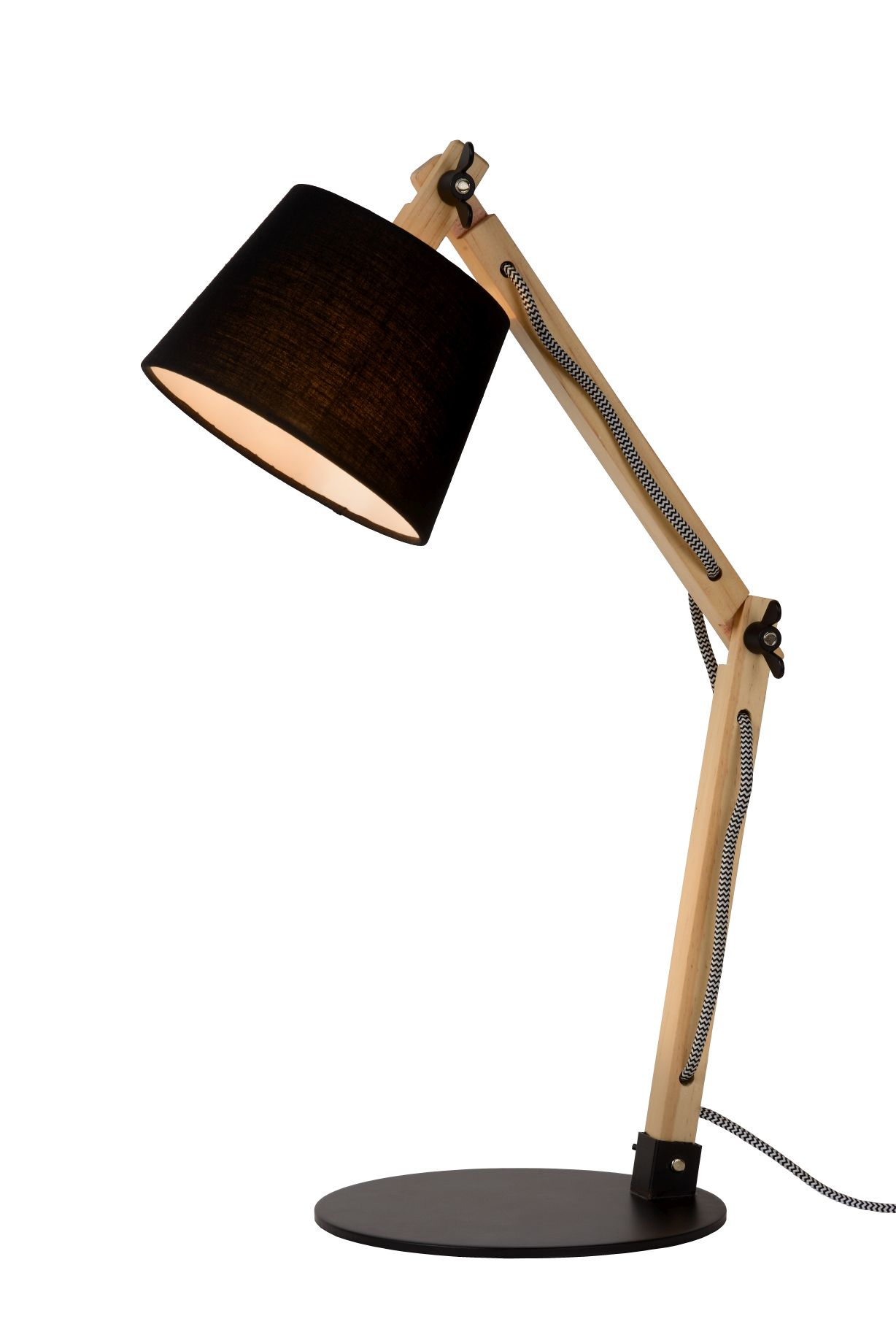 OLLY Desk lamp E14 L43 D15,5 H68cm Black