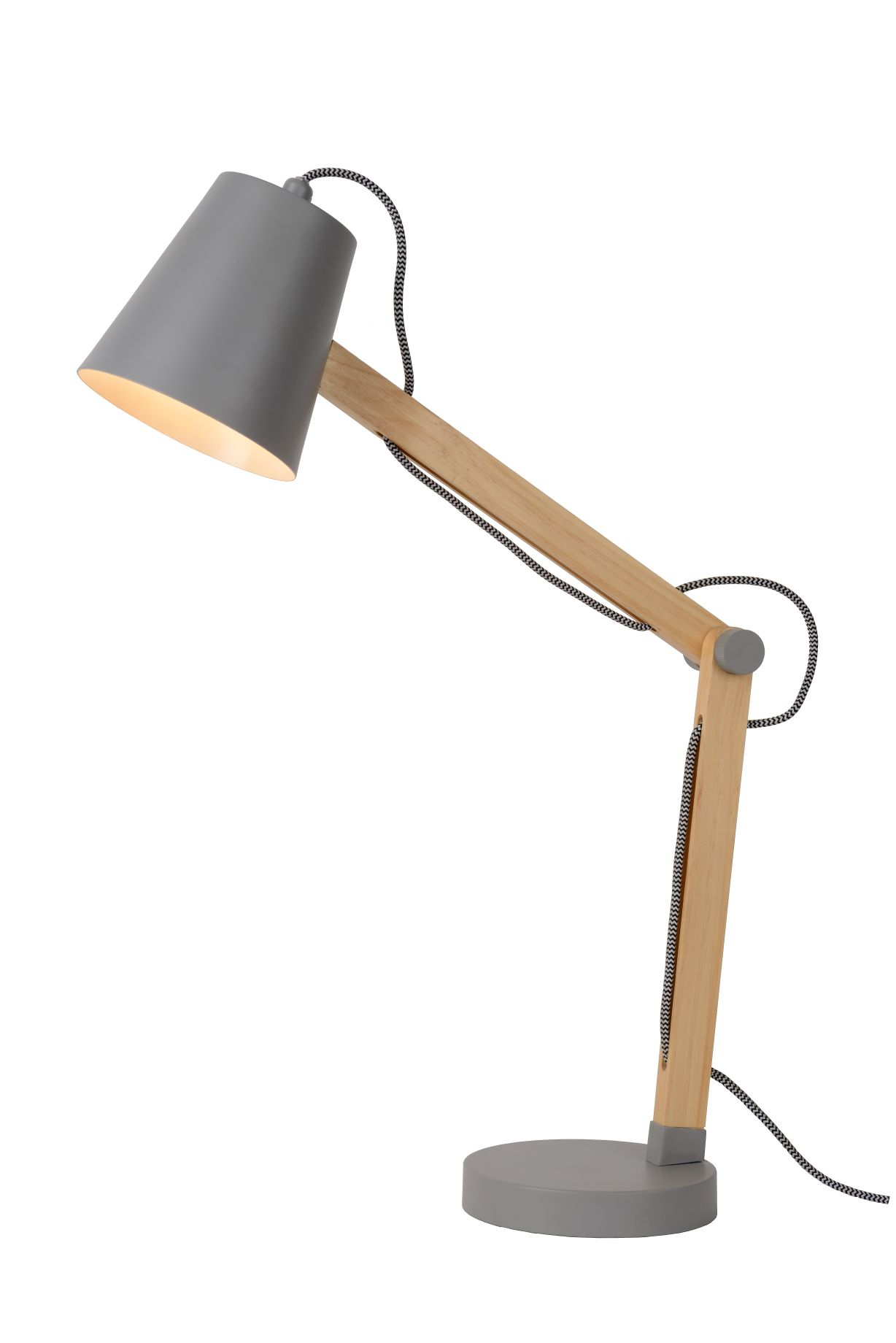 TONY Desk lamp E14 L41 W14 H69cm Grey