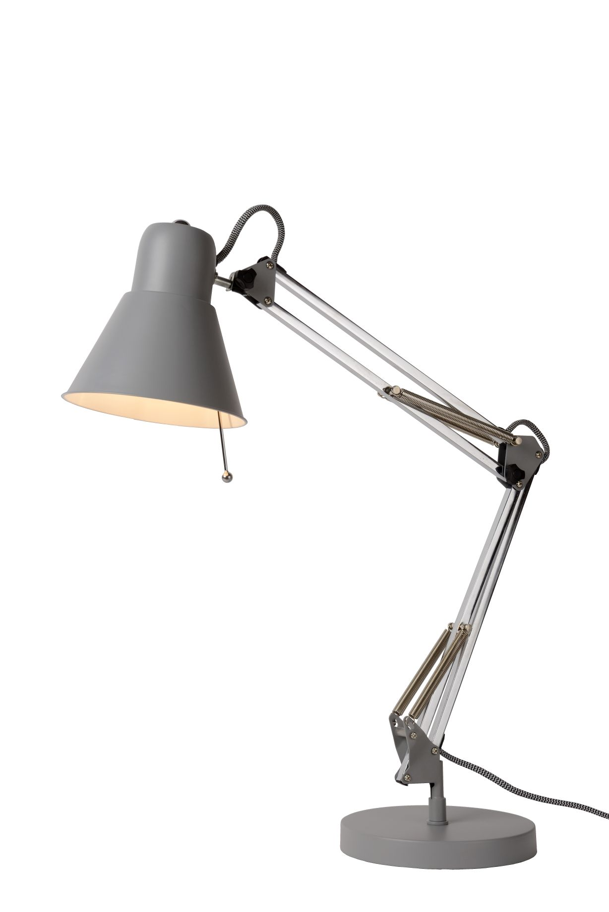 TERRA Desk lamp E27 L55 W18 H60cm Grey