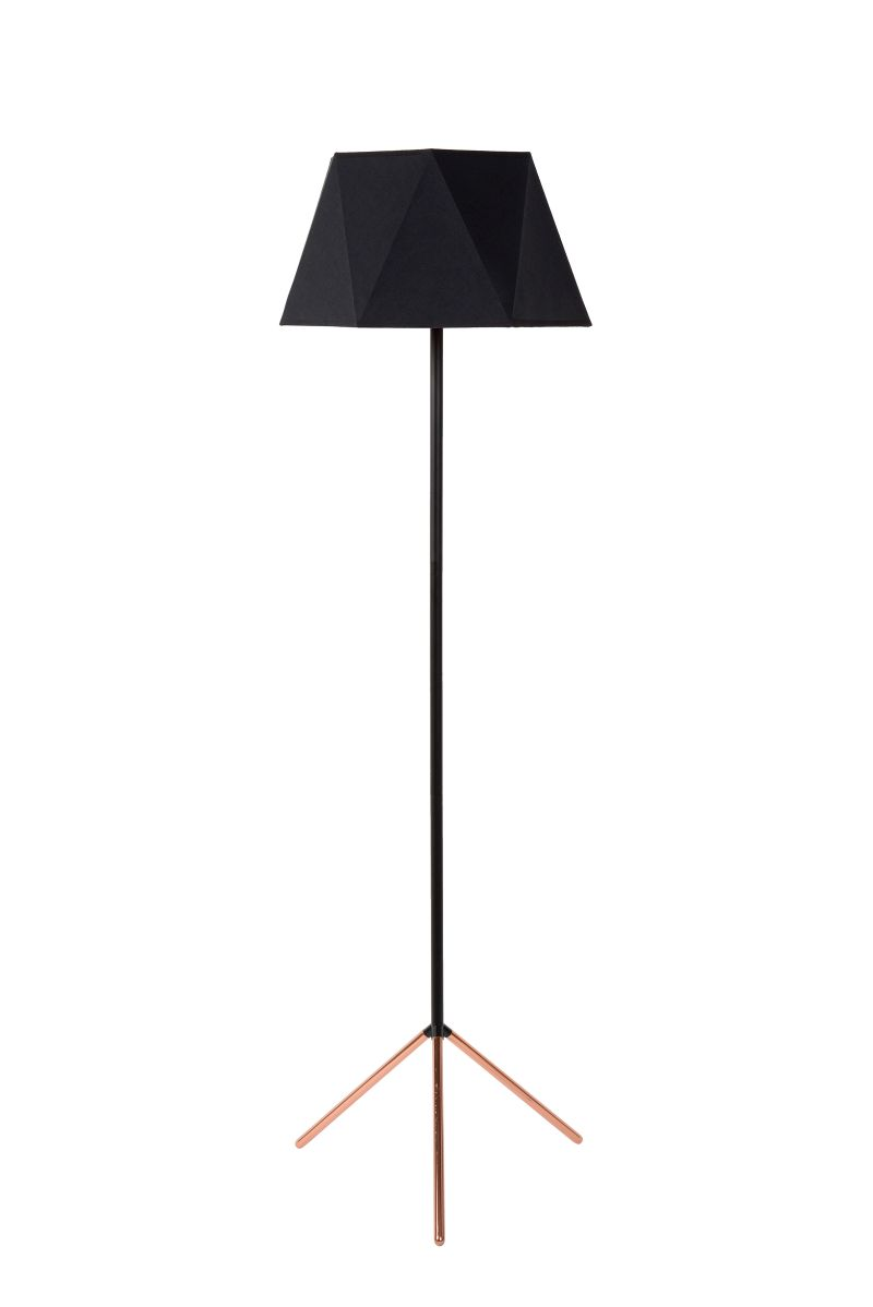 ALEGRO Floor Lamp E27 D42cm H155cm Black