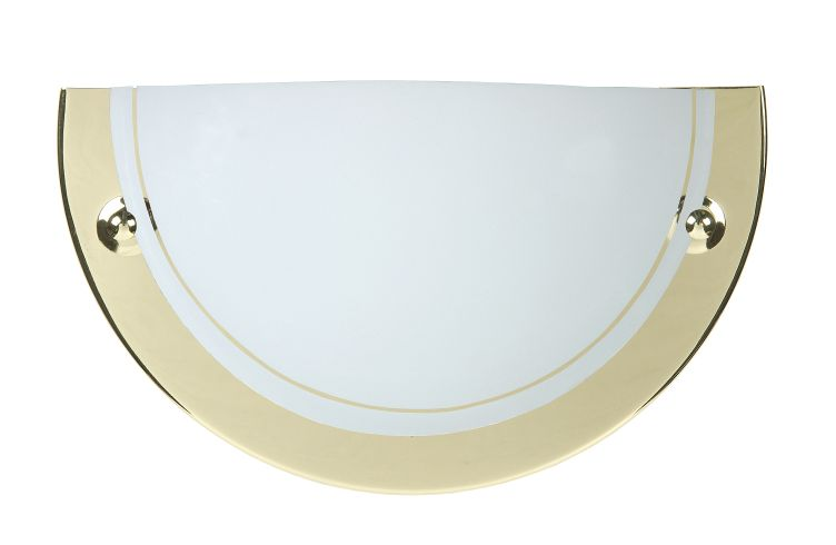 Wall lamp 1xE27/60W opal glass Brass