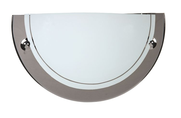 Wall lamp 1xE27/60W opal glass Gun metal (07204/01/09)