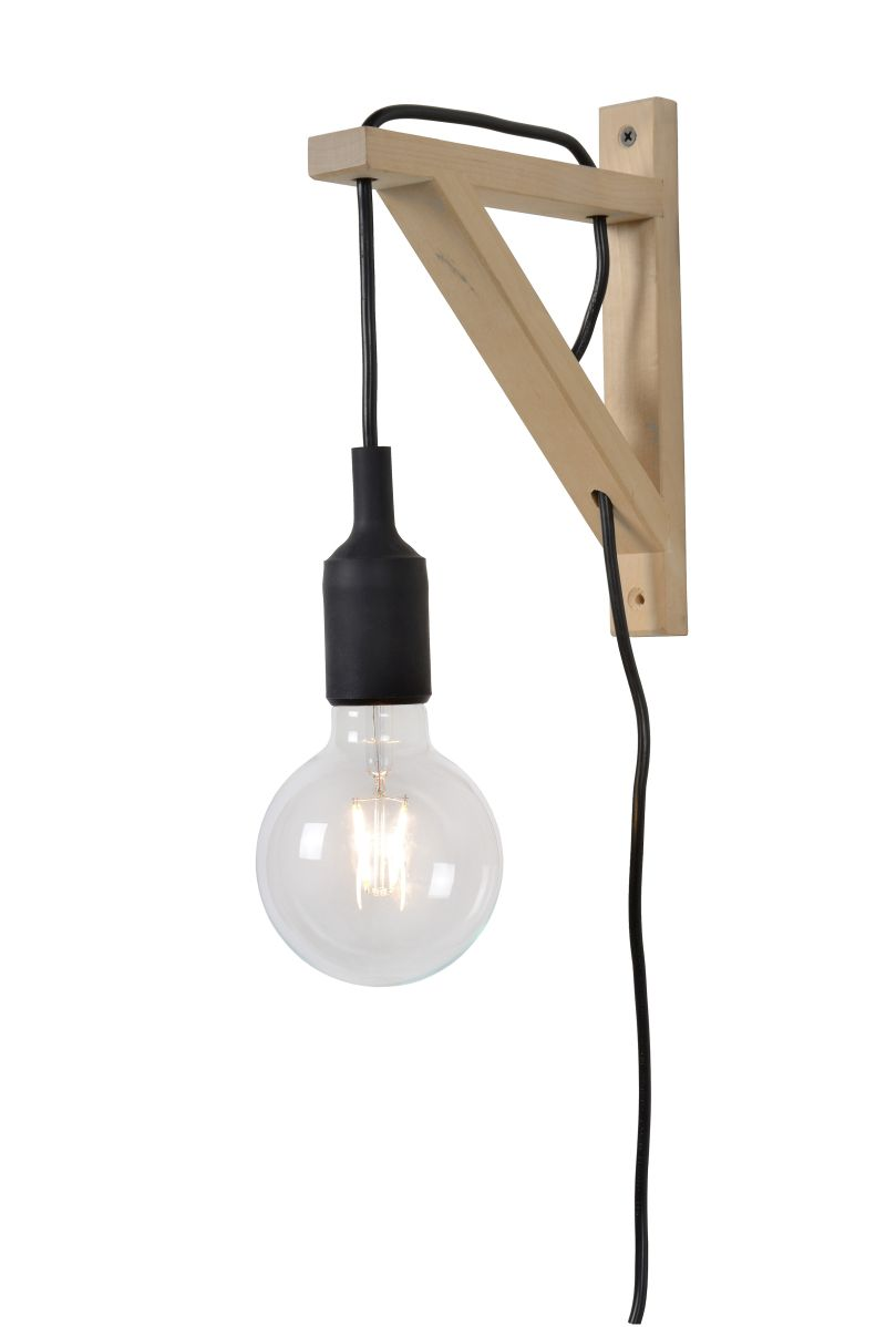 FIX Wall Light E27 excl. H22cm Wood/ Black