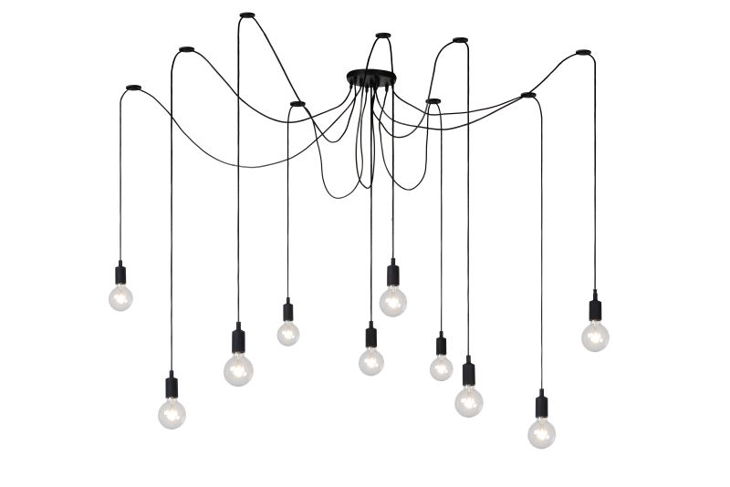 FIX MULTIPLE Pendant 10xE27/60W Black