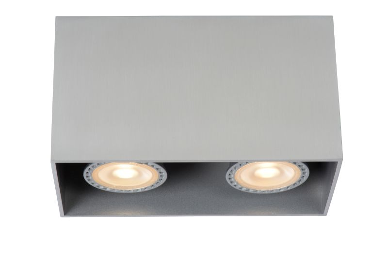 BODI Ceiling Light Square2xGU10excl Alu (09101/02/12)