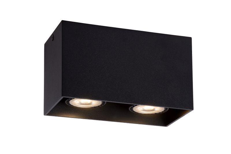 BODI Ceiling Light Square 2xGU10excl Bla (09101/02/30)