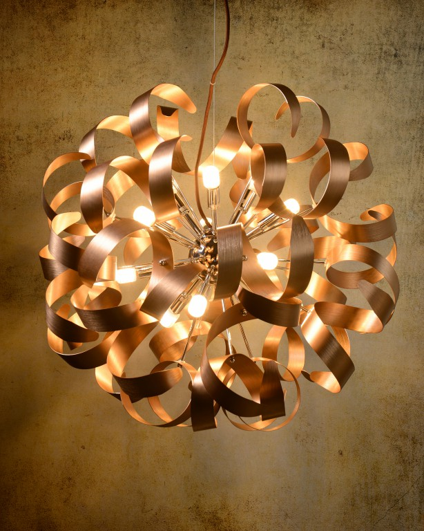 ATOMA Pendat LED 12x G9/4W D60cm Copper