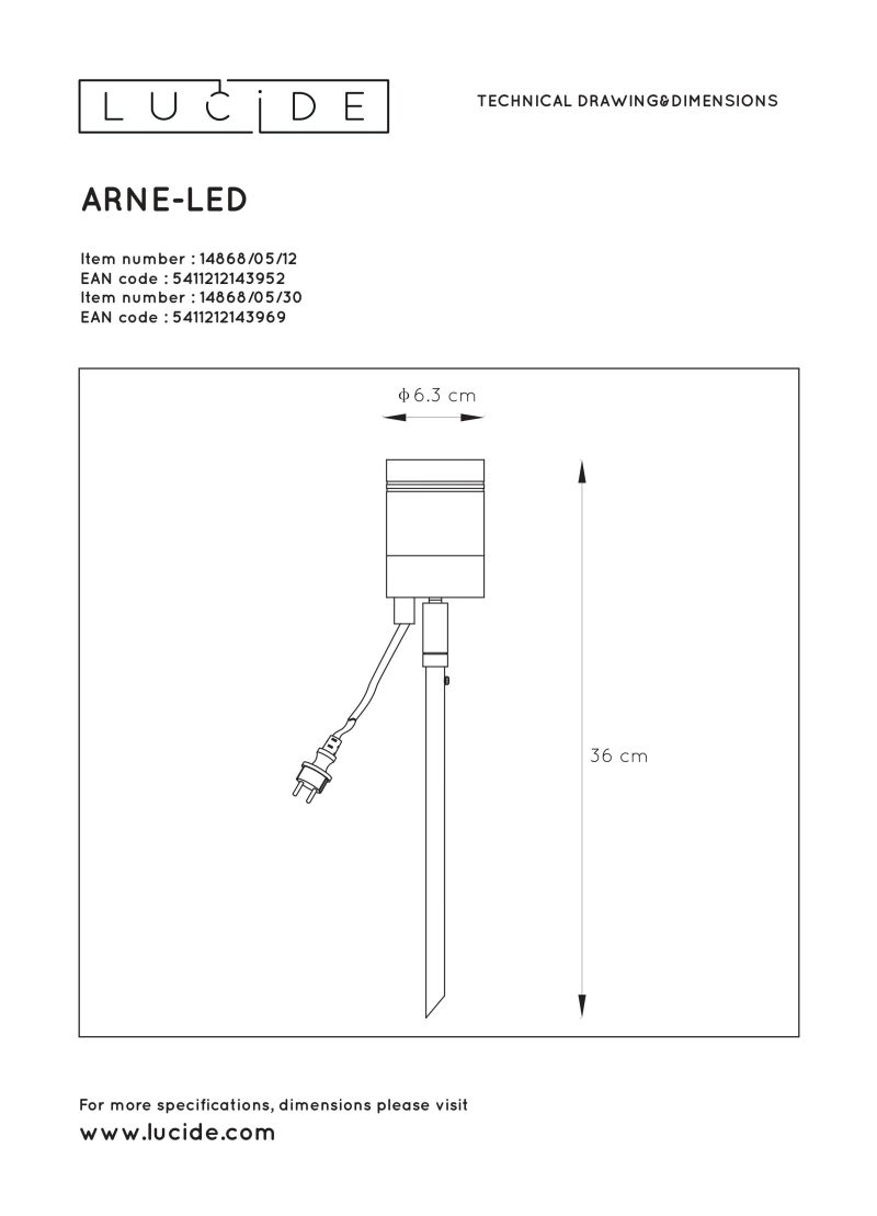 ARNE-LED Outdoor lamp spike 1x GU10/5W 3
