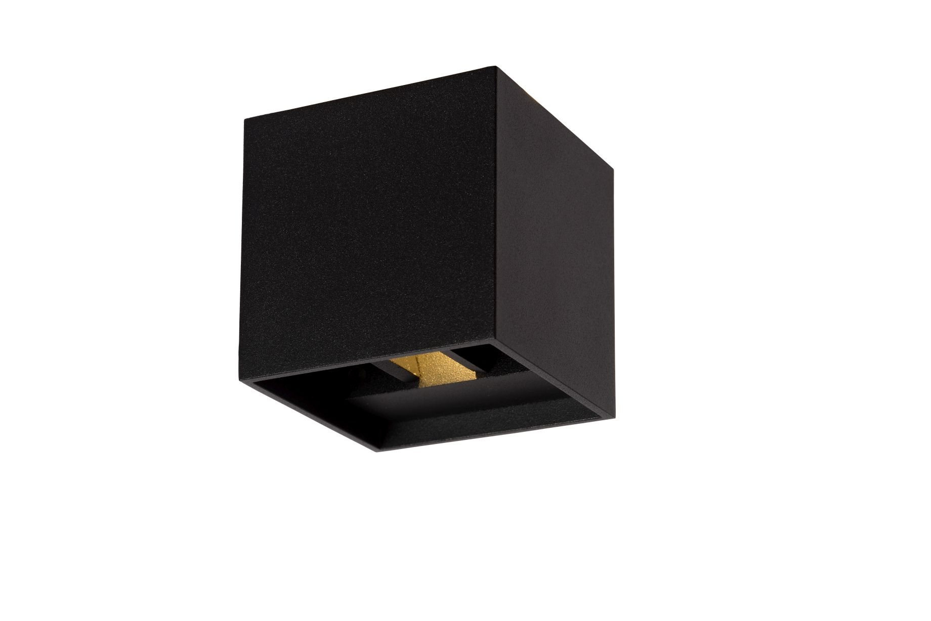 XIA Wall Light IP54 LED 2W 8/8/8cm Black (17293/02/30)