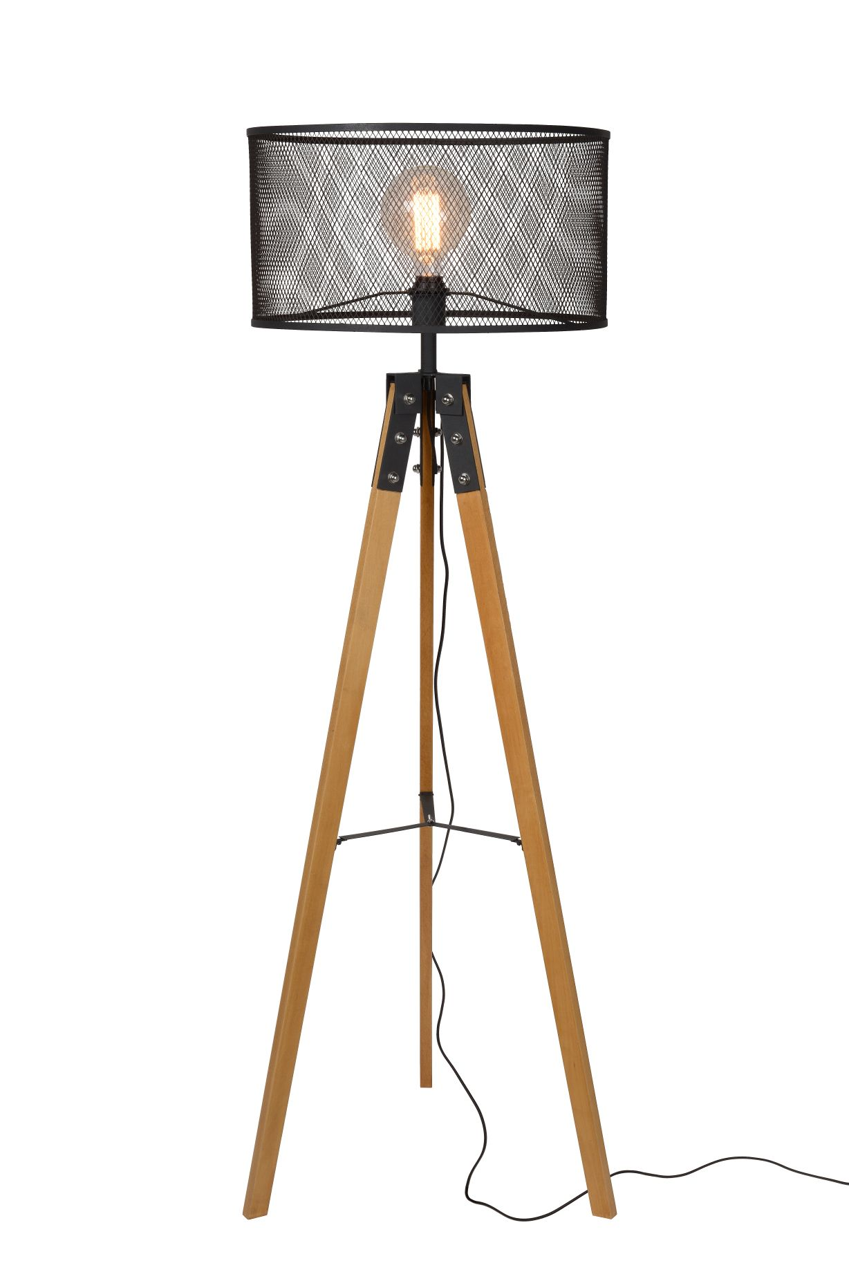 ALDGATE Floor Lamp E27 H150cm Black