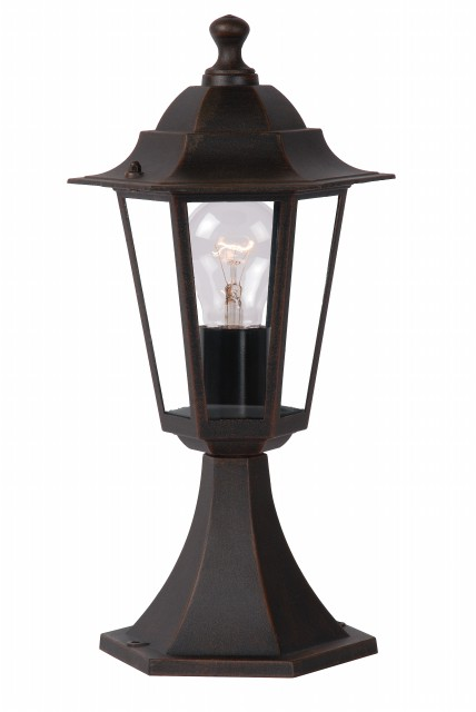CAPRI-Hexa Outdoor Lantern Socle 1xE27 Rust (27807/01/97)