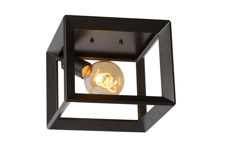 THOR Ceiling Light E27 L25 W25 H20cm Iron Grey